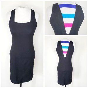 UO Rainbow Back Black Mini Dress